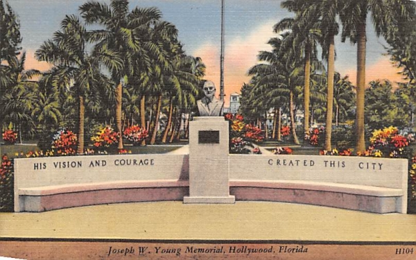 Joseph W. Young Memorial Hollywood, Florida Postcard