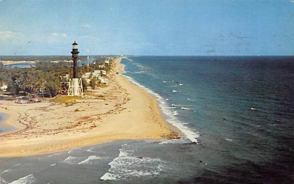 Hillsboro Light and Mile Florida Postcard