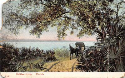 Halifax River Florida Postcard