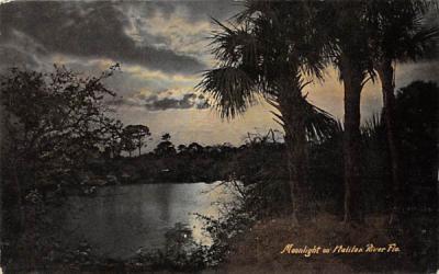 Moonlight on Halifax River, FL, USA Florida Postcard