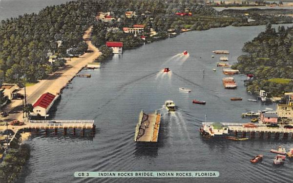 Indian Rocks Bridge Florida Postcard