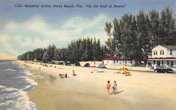 Beautiful Indiana Rocks Beach, FL, USA Indian Rocks, Florida Postcard