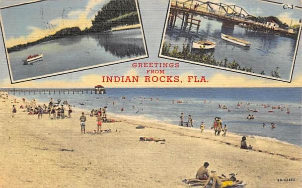 Greetings from Indian Rocks, FL, USA Florida Postcard