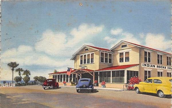 Indian Rocks Inn Florida Postcard