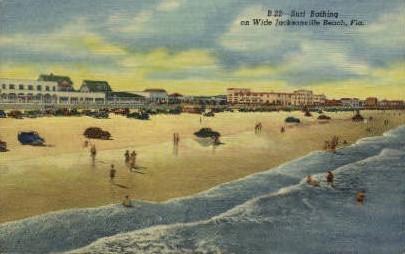 Jacksonville Beach - Florida FL Postcard
