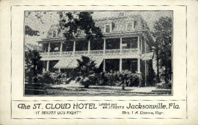 St. Cloud Hotel - Jacksonville, Florida FL Postcard