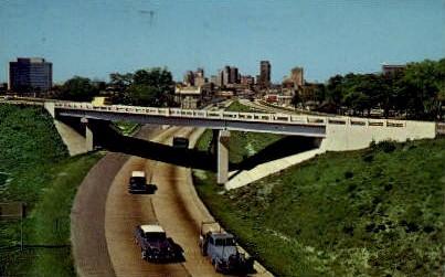Expressway - Jacksonville, Florida FL Postcard