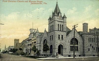 Frist Christian Church - Jacksonville, Florida FL Postcard