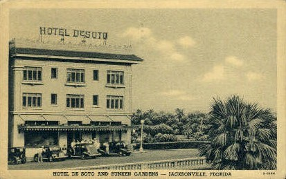 De Soto Hotel - Jacksonville, Florida FL Postcard