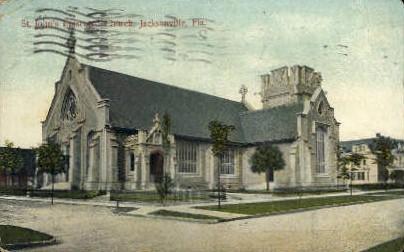 St. Johns Episcopal Church - Jacksonville, Florida FL Postcard