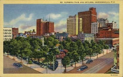 Hemming Park - Jacksonville, Florida FL Postcard