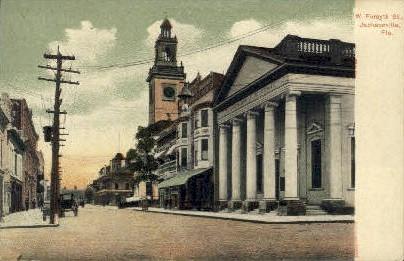 Foresyth Street - Jacksonville, Florida FL Postcard