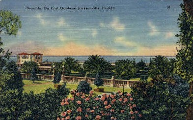 Du Pont Gardens - Jacksonville, Florida FL Postcard