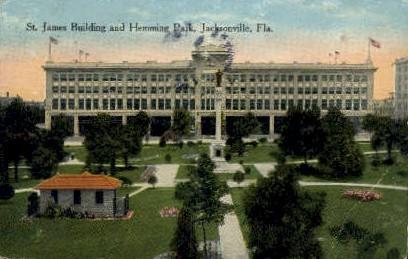 St. James Building - Jacksonville, Florida FL Postcard