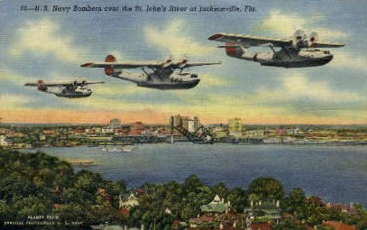 Navy Bombers - Jacksonville, Florida FL Postcard