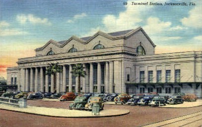 Terminal Station - Jacksonville, Florida FL Postcard