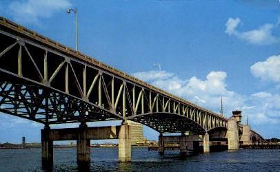 Fuller Warren Bridge - Jacksonville, Florida FL Postcard