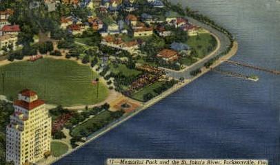 Memorial Park - Jacksonville, Florida FL Postcard