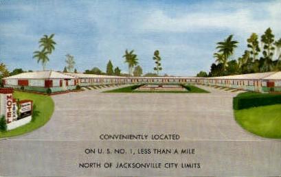 Texan Motel - Jacksonville, Florida FL Postcard