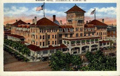 Windsor Hotel - Jacksonville, Florida FL Postcard