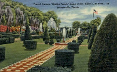 Formal Garden - Jacksonville, Florida FL Postcard