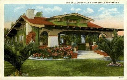 Bungalow - Jacksonville, Florida FL Postcard