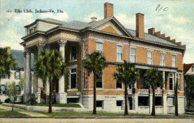 Elks Home - Jacksonville, Florida FL Postcard
