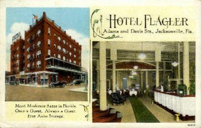 Flagler Hotel - Jacksonville, Florida FL Postcard