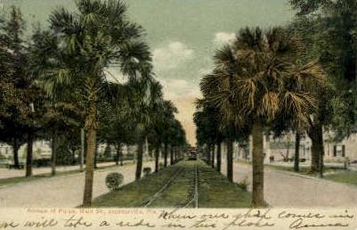 Main Street - Jacksonville, Florida FL Postcard