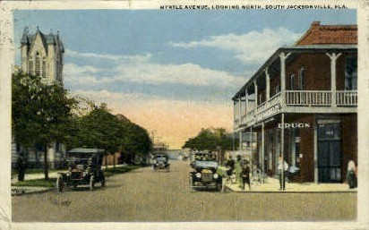 Myrtle Avenue - Jacksonville, Florida FL Postcard