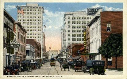 Forsyth Street - Jacksonville, Florida FL Postcard