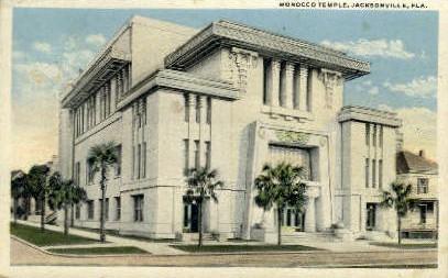 Morocco Temple - Jacksonville, Florida FL Postcard