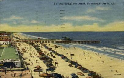 Boardwalk - Jacksonville, Florida FL Postcard