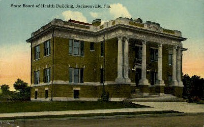 State Board - Jacksonville, Florida FL Postcard