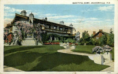 Beautiful Home - Jacksonville, Florida FL Postcard