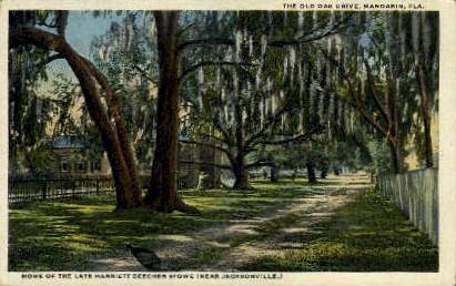 Harriett Beecher Stowe Home - Jacksonville, Florida FL Postcard