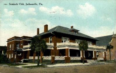 Seminole Club - Jacksonville, Florida FL Postcard