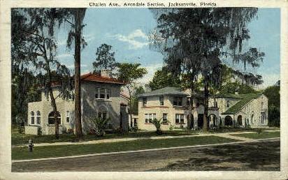 Challen Avenue - Jacksonville, Florida FL Postcard