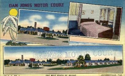 Dan Jones Motor Hotel - Jacksonville, Florida FL Postcard