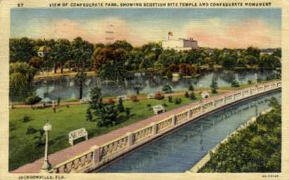 Confederate Park - Jacksonville, Florida FL Postcard