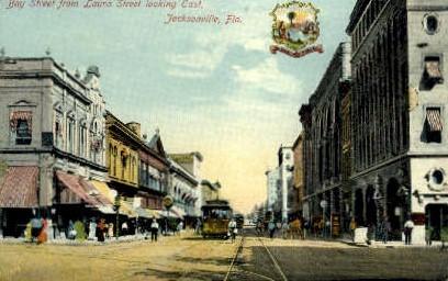 Laura Street - Jacksonville, Florida FL Postcard