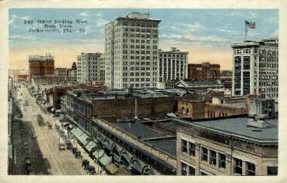 Bay Street - Jacksonville, Florida FL Postcard