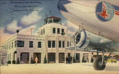 Municipal Airport - Jacksonville, Florida FL Postcard