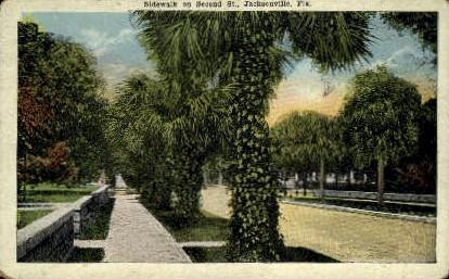 Second Street - Jacksonville, Florida FL Postcard