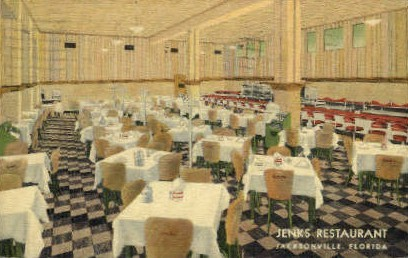 Jenks Restaurant - Jacksonville, Florida FL Postcard