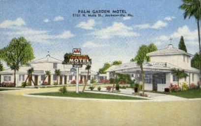 Palm Garden Motel - Jacksonville, Florida FL Postcard