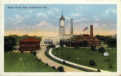 Water Works Park - Jacksonville, Florida FL Postcard