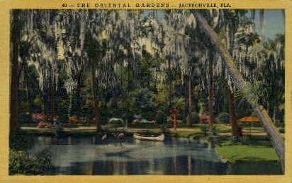Oriental Gardens - Jacksonville, Florida FL Postcard