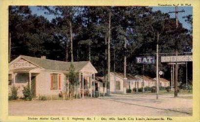 Stokes Motor Court - Jacksonville, Florida FL Postcard