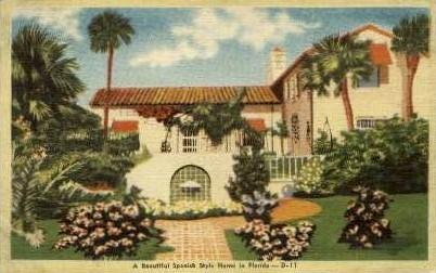 Spanish Style Home - Jacksonville, Florida FL Postcard